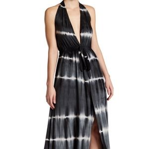 Go Couture Tie-Dye Halter Maxi Dress